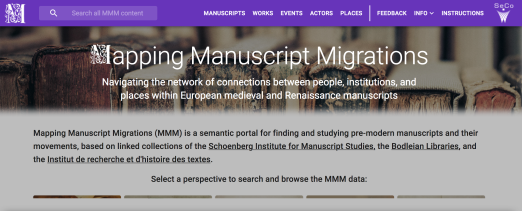 Mapping Medieval Manuscripts Migrations